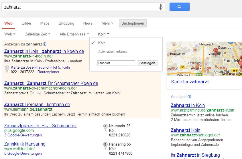 Google Places: Was man wissen sollte