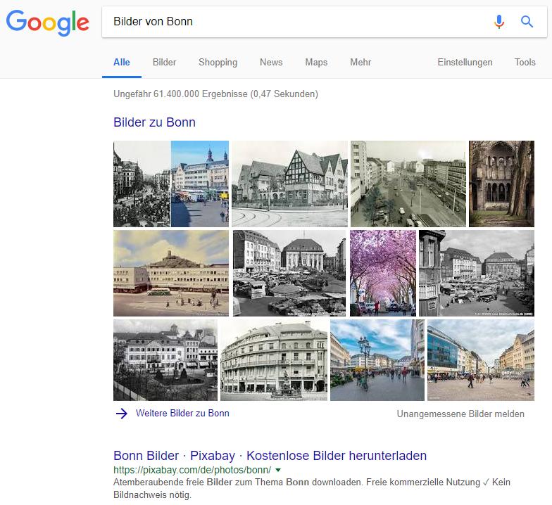 Google Suchergebnis: 29.08.2018