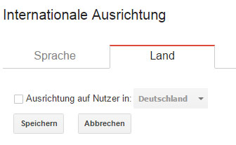 Internationale Ausrichtung in der Search Console