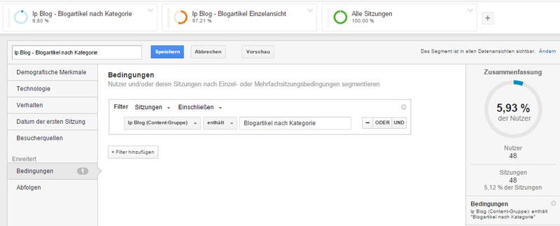 Segmente anlegen in Google Analytics