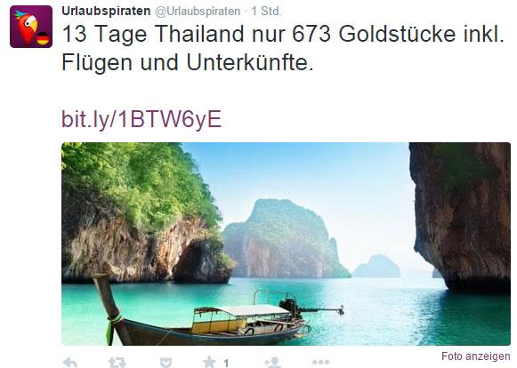 Tweet der Urlaubspiraten