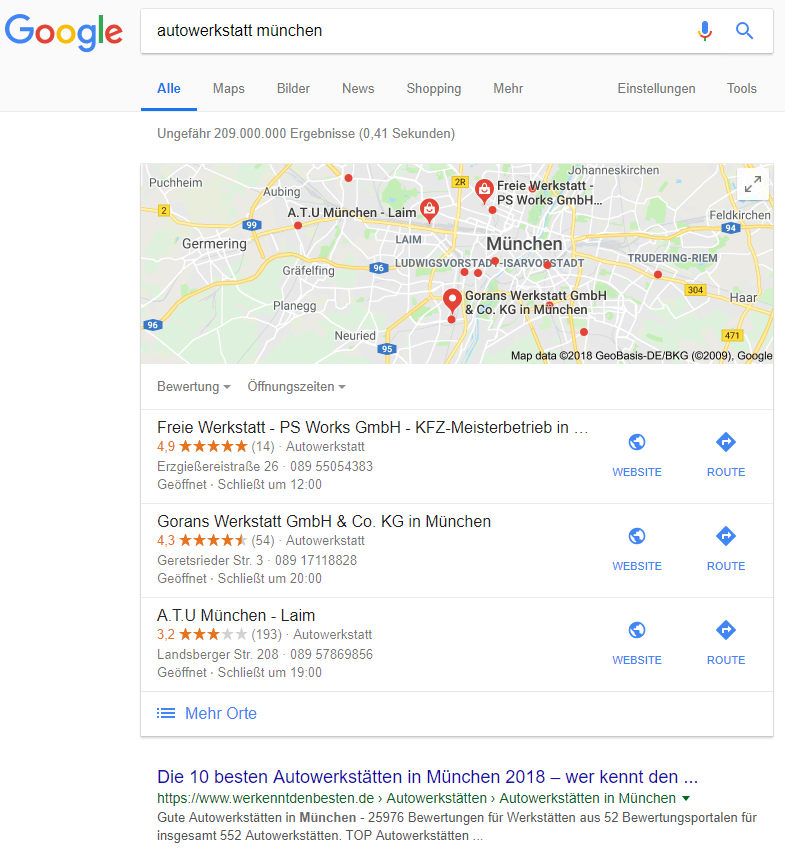Google Suche 23.10.2018