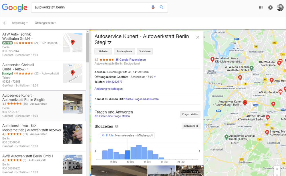 Google Local Listings, 24.10.2018