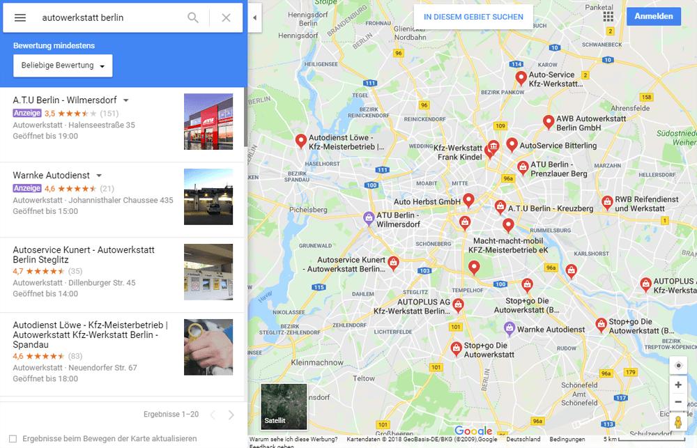 Google Maps Suche 26.10.2018