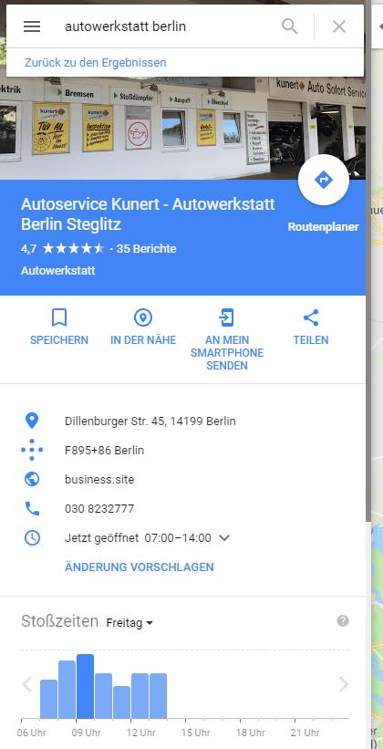 Google Maps Treffer