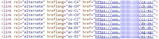hreflang Einbindung im html Code