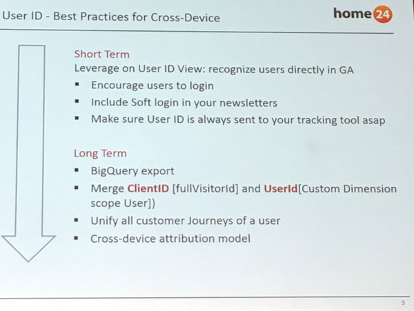 Cross Device Tracking - Best Practice