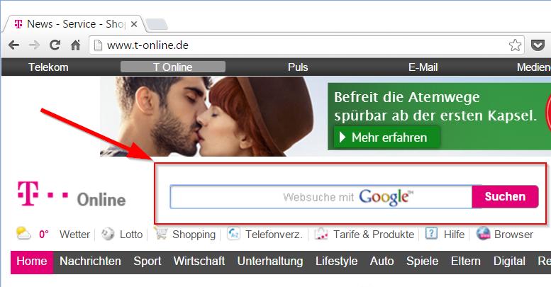 Suchmaschine t-online.de