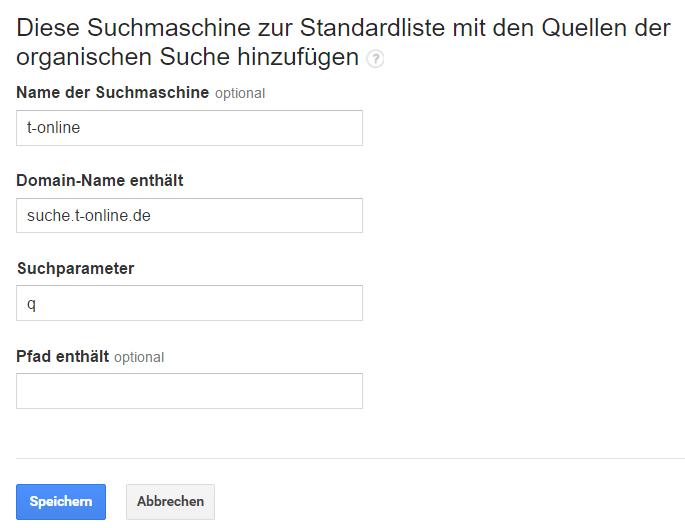 Quelle organische Suche t-online.de