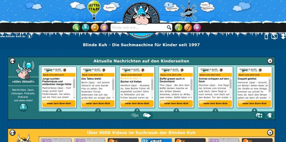 Blinde-Kuh: Suchmaschine für Kinder
