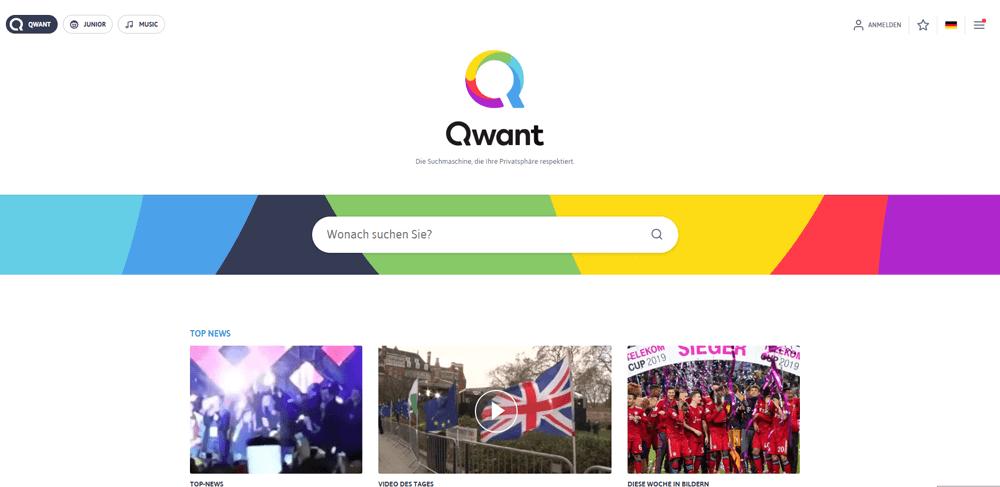Französische Suchmaschine Qwant