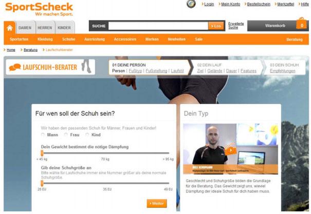SportCheck Laufschuh Berater