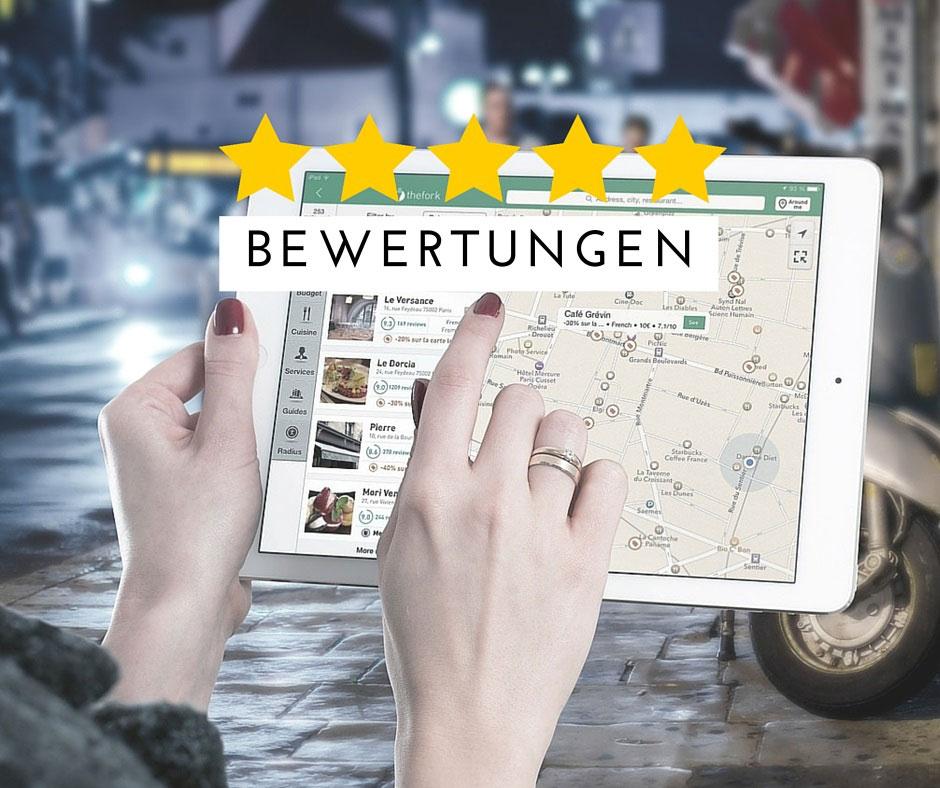 Online Bewertungen für lokale Unternehmen