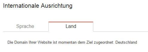 Länderausrichtung in der Google Search Console