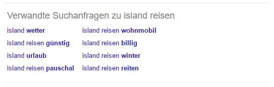 """Verwandte Suchanfragen zu """"Island Reisen"""""""