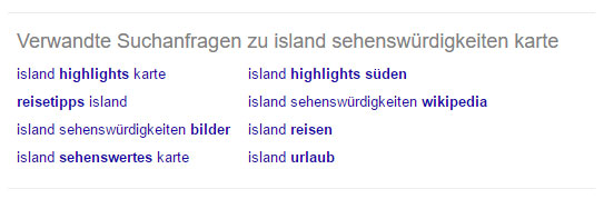 """Verwandte Suchanfragen zu """"Island Sehenswürdigkeiten"""""""
