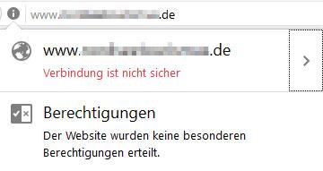 Nicht sichere Website im Firefox