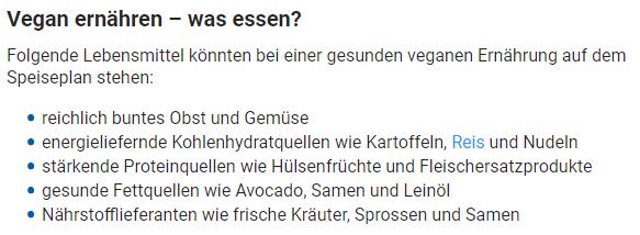 Quelle: https://www.gesundheit.de/ernaehrung/alternative-ernaehrung/vegan-essen