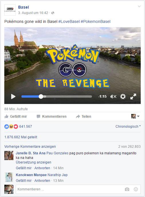 88 Millionen Video Aufrufe auf Facebook mehr als 600.000 Reaktionen und über 250.000 Kommentare