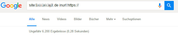 Indexierte Seiten der de-Domain