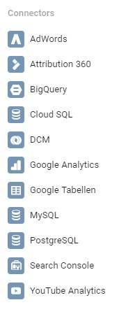Datenquellen in Google Data Studio