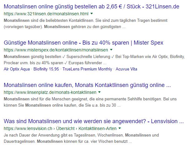 """Suchergebnisse zu """"Monatslinsen"""""""