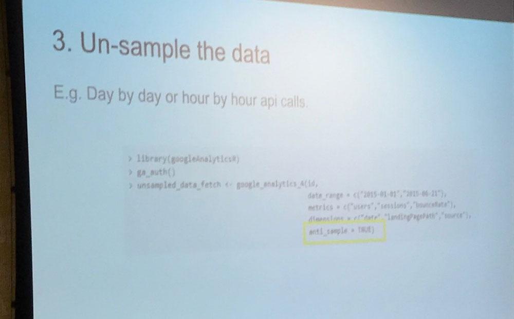 3. Data-Sampling deaktivieren, durch Anpassung der Abfragen