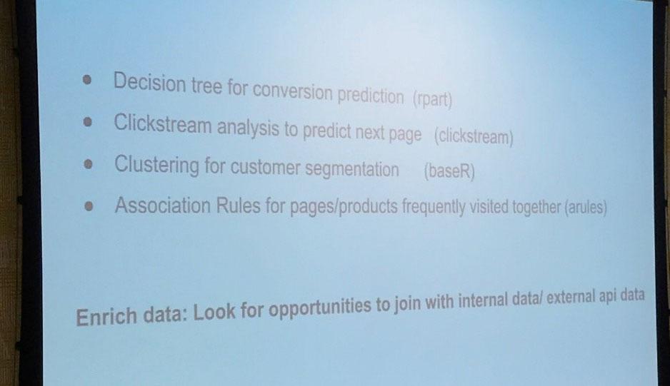 Außerdem hat er einige Methoden für Predictive Analysis vorgestellt
