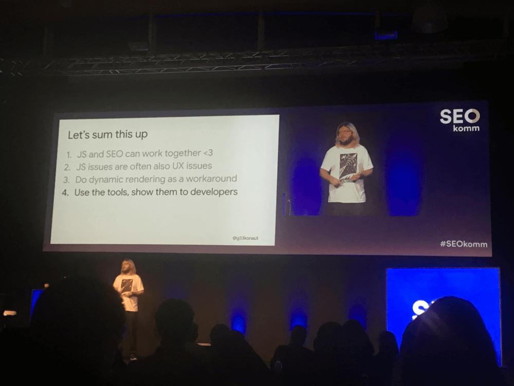Martin Splitt auf der SEOkomm 2018 in Salzburg