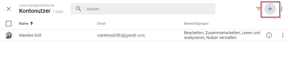 Nutzer in Google Analytics hinzufügen