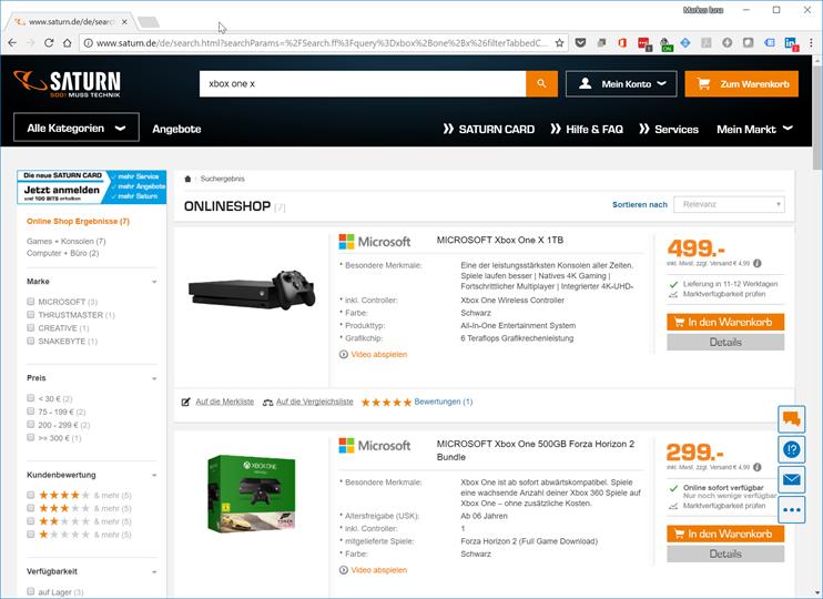Eine Seite, mehrere Produkte: Auf dieser Seite werden 2 Produkt impressions erfasst