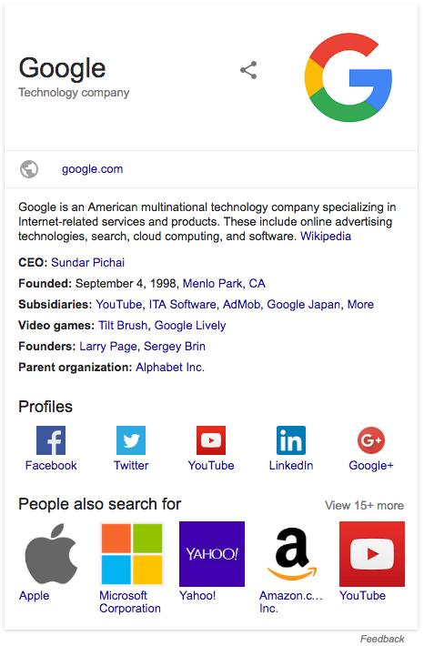 Strukturierte Daten für Unternehmen