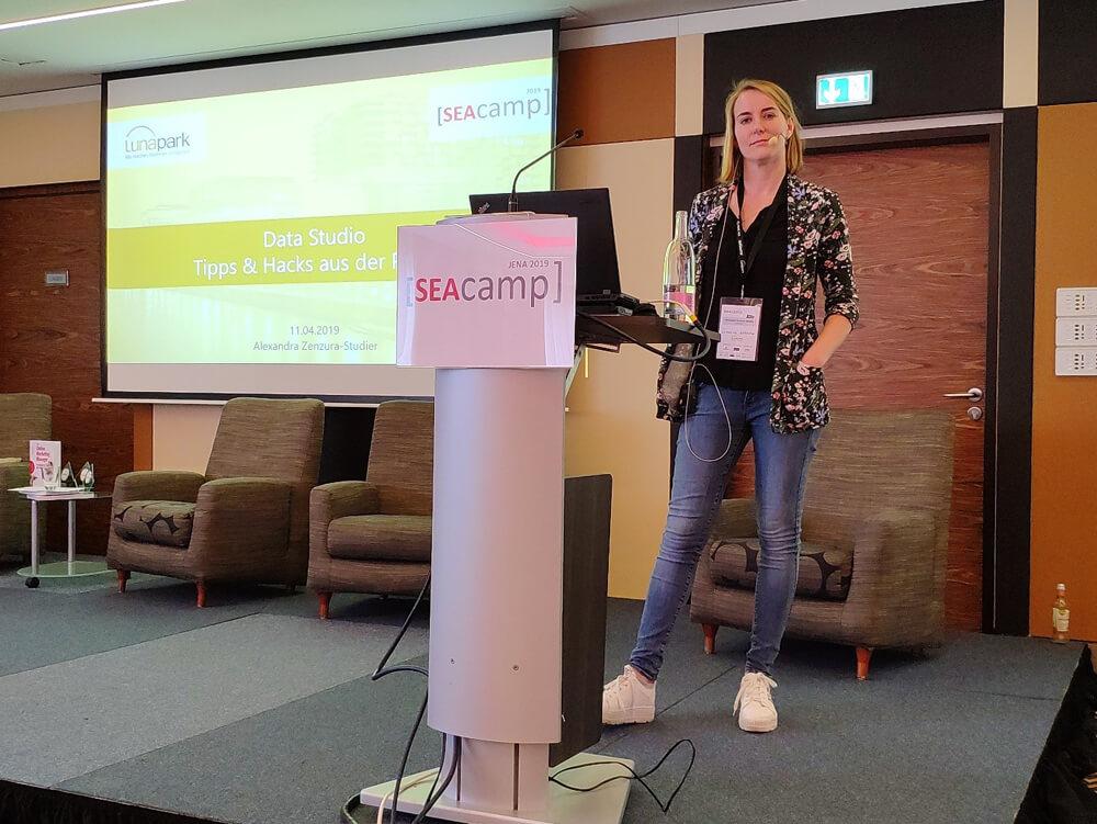 Alexandra Zenzura-Studier auf dem SEAcamp in Jena 2019