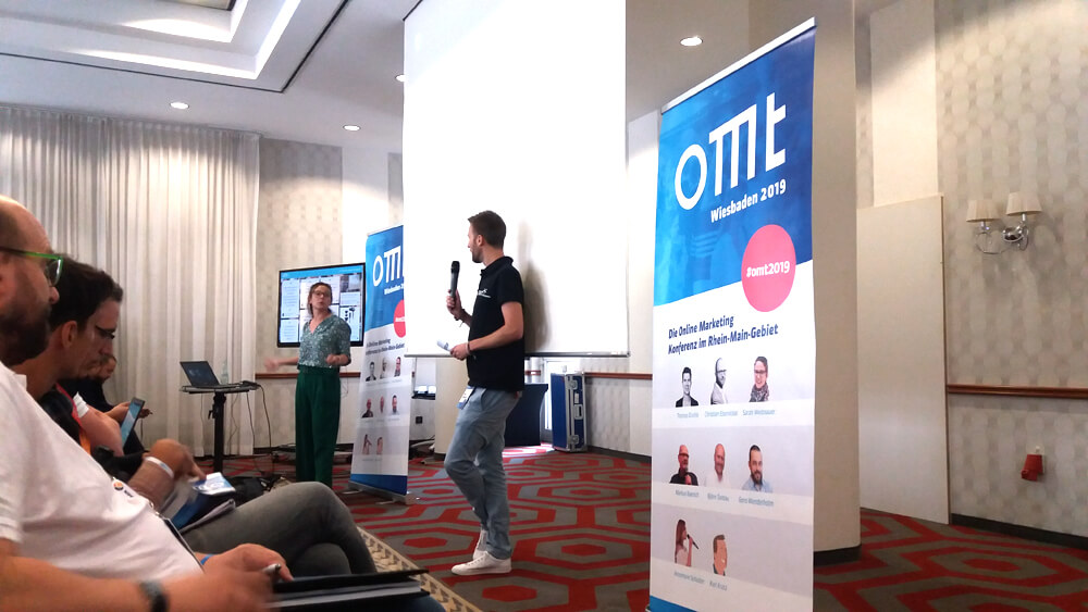 Sarah Weitnauer auf dem Online Marketing Tag in Wiesbaden
