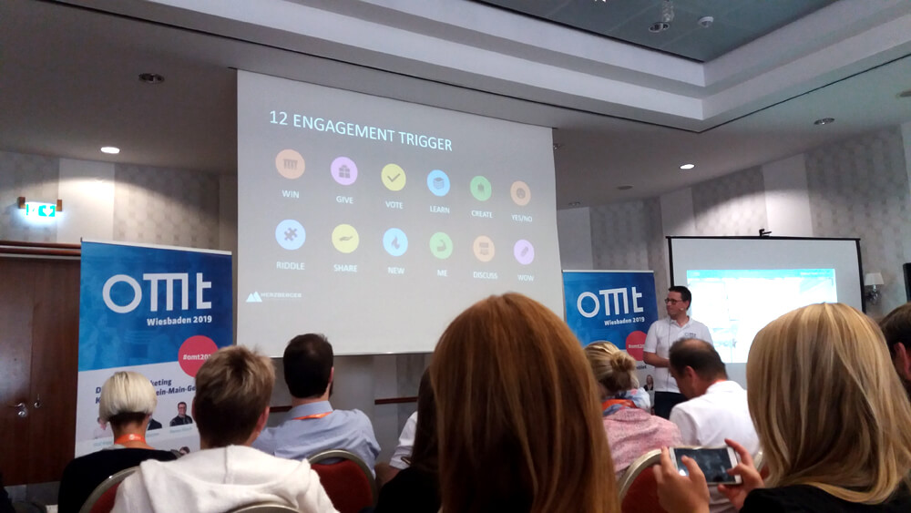 Tomas Herzberger auf dem Online Marketing Tag 2019 in Wiesbaden