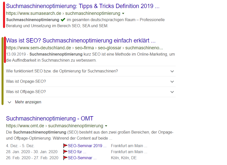 FAQ Snippet in den SERPs