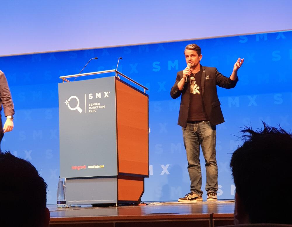 Marcus Tandler auf der SMX 2019 in München