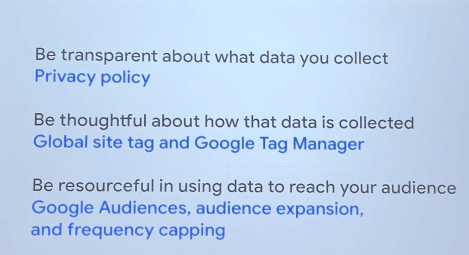 Umgang mit gesammelten Daten