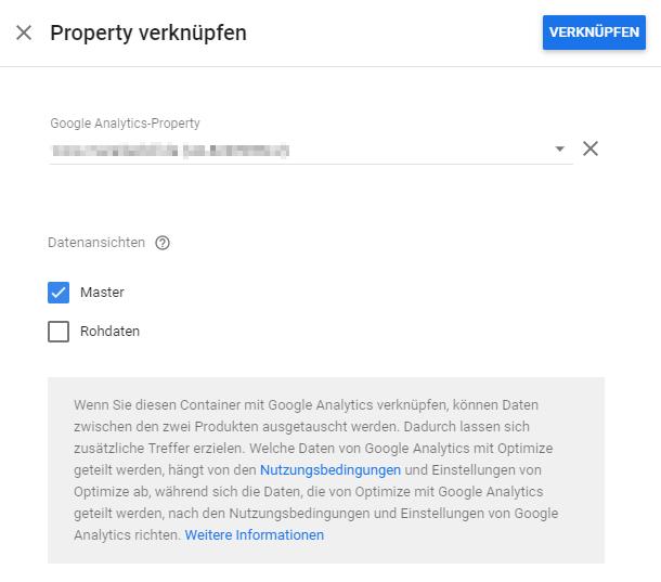 Property und Datenansicht verknüpfen
