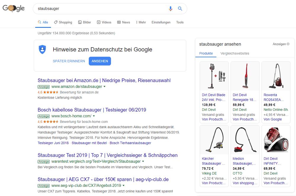 Googlesuche vom 14.10.2019