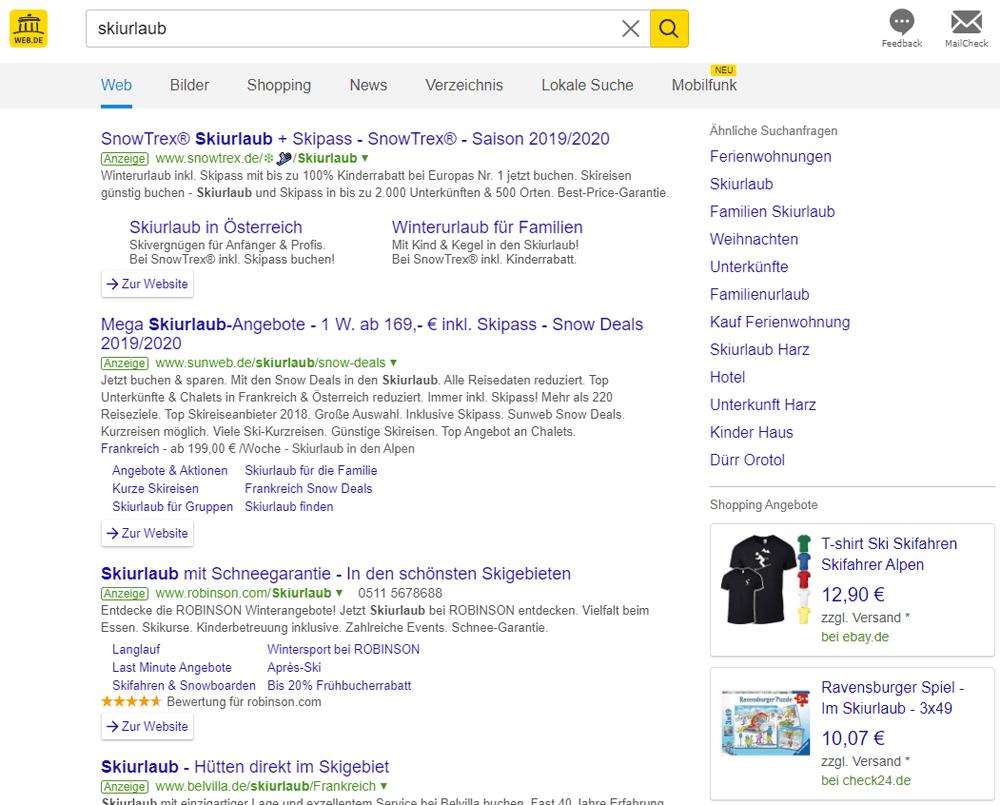 Suchergebnisse auf web.de