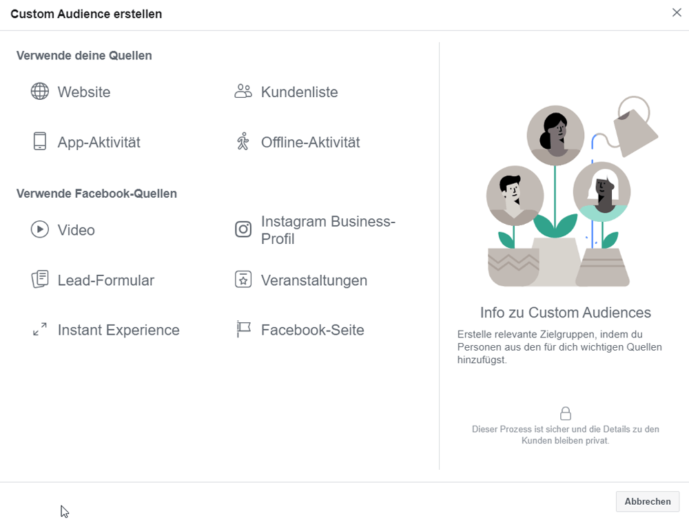Custom Audience in Facebook erstellen