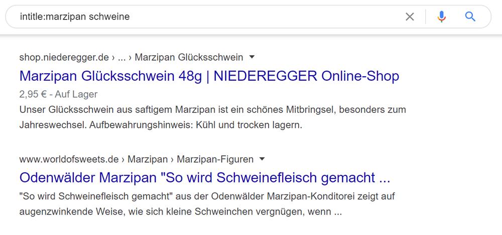 Keyword in der URL