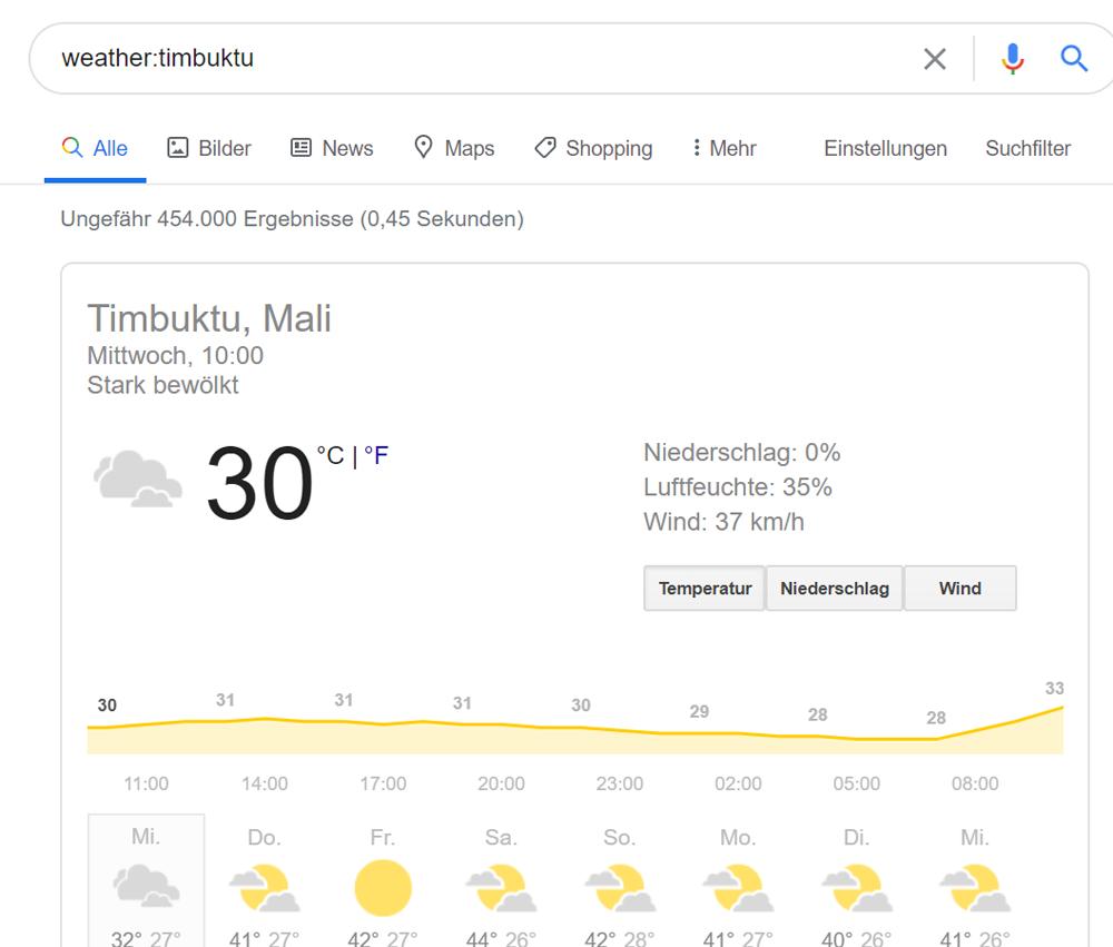 Infos zum Wetter