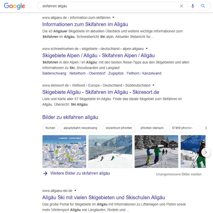 Wettbewerber in der Google Suche identifizieren