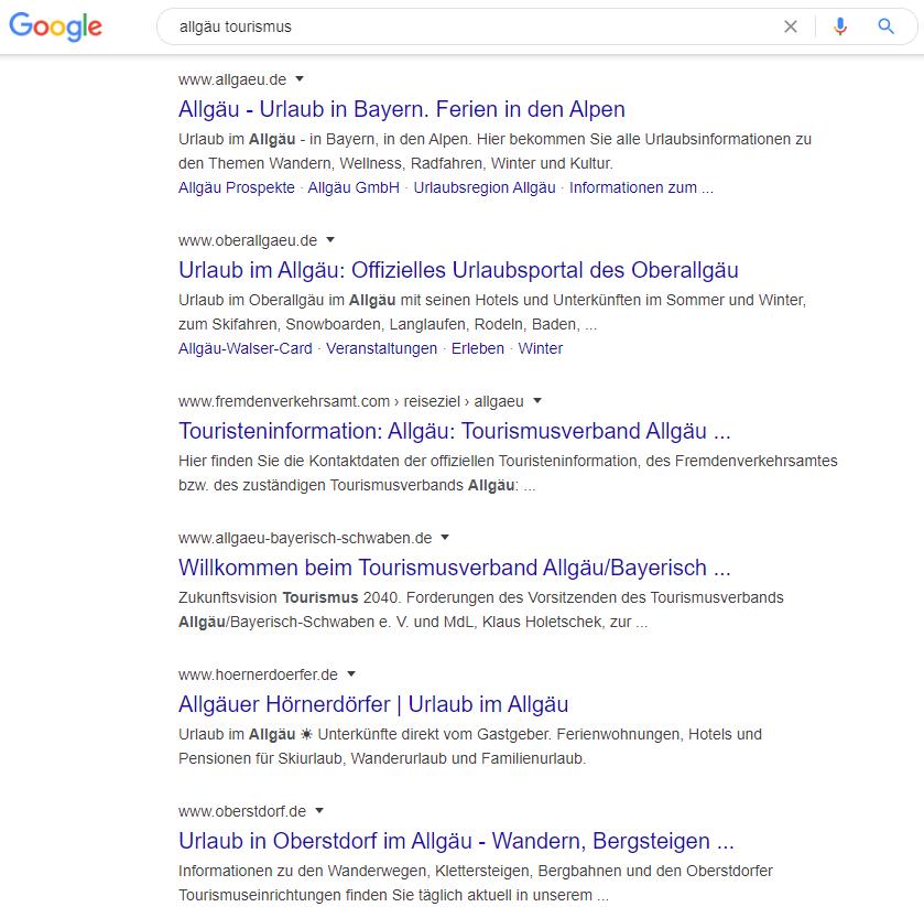 Google Suche ausweiten