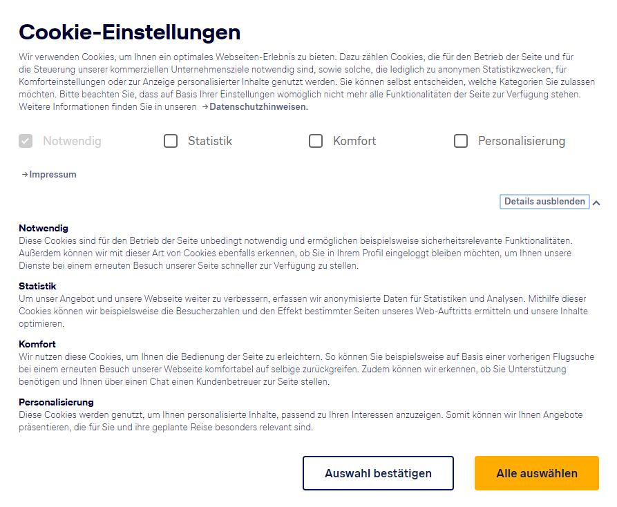 DSGVO konformes Tracking bei der Lufthansa