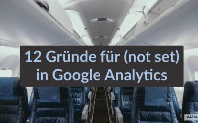 (not set) in Google Analytics: Ursachen und Lösungen
