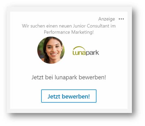 Spotlight Ad auf LinkedIn